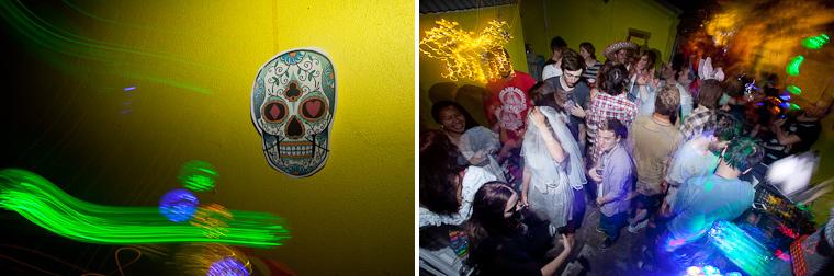 Dia de lost Muertos, day of the dead party photos.