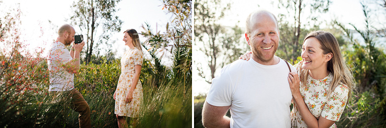 A vintage themed enagement shoot around rustic Sydney Harbour and Watsons Bay.