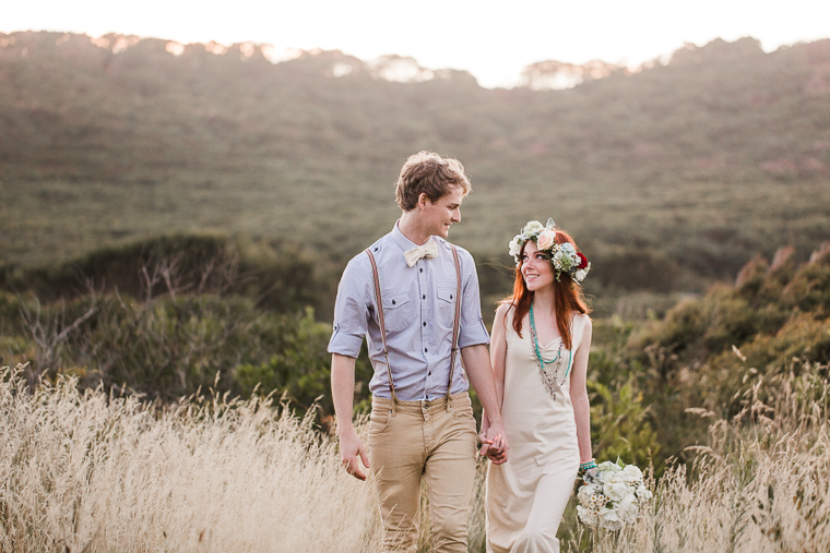 Bohemian styled engagement shoot