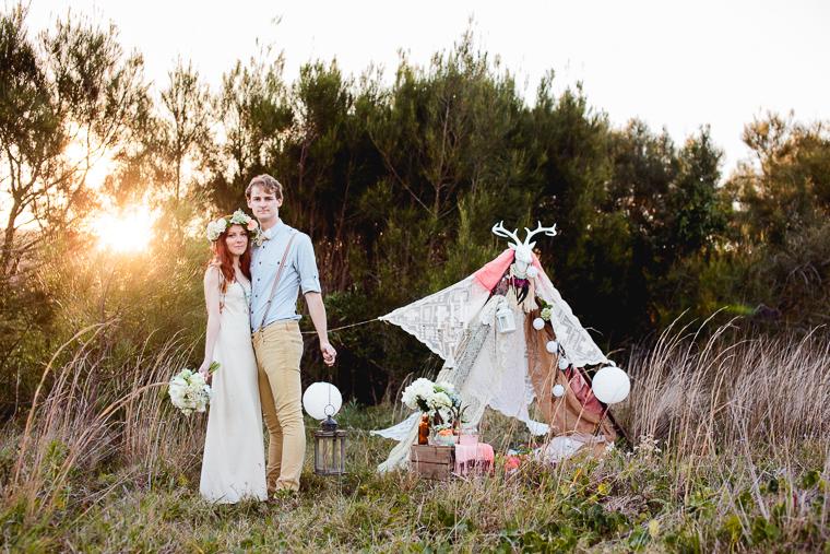 Bohemian styled engagement shoot