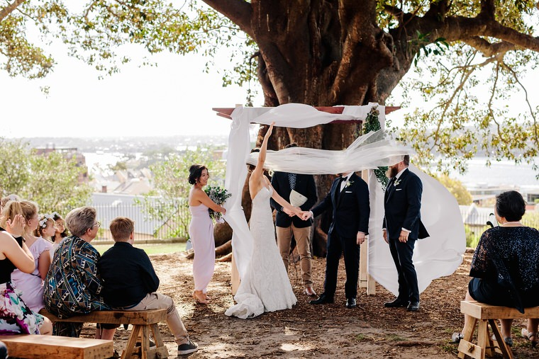 Wedding at Observatory Hill, Sydney and Doltone House Loft, Jones Bay Wharf.