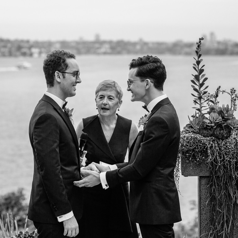 Tim and Josh's same sex wedding at Sergeants Mess, Mosman