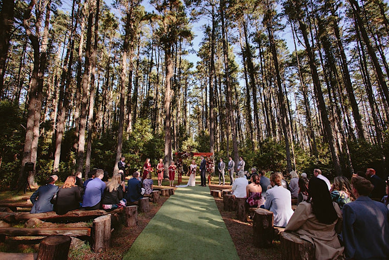 Erin and Liam's wedding at the secluded Bilpin Resort, Blue Mountains.