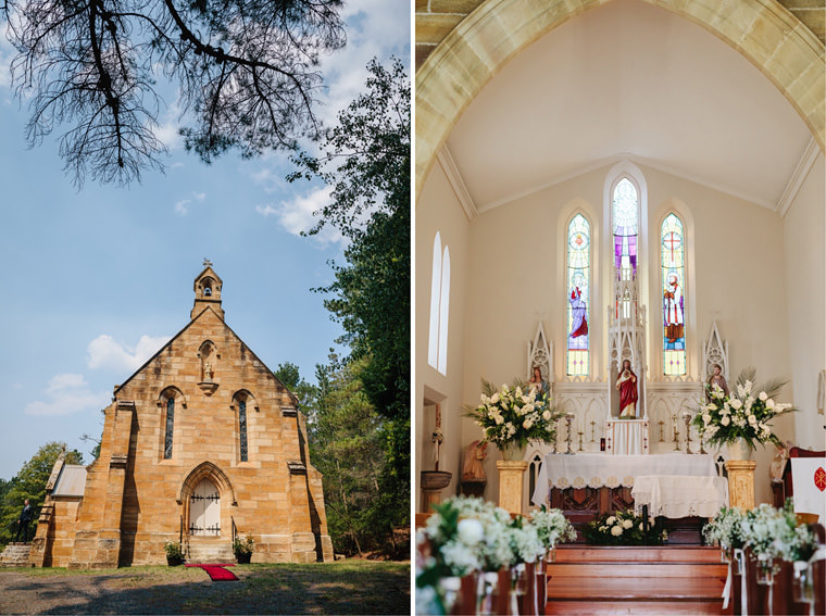 Georgina & Paolo's wedding at Saint Francis Xavier, Berrima with wedding reception at Milton Park, Bowral.