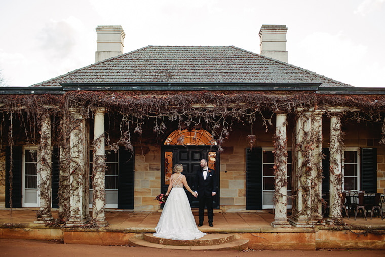 Sarah & Dan's winter wedding photos at Bendooley Estate's Book Barn in Berrima.